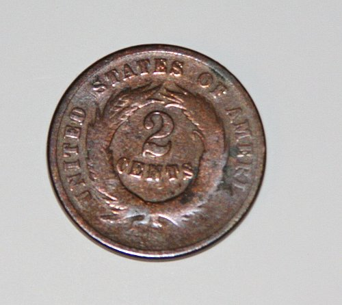 COLLECTIBLE U.S. 1865 2C COIN.....G06.....