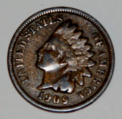 COLLECTIBLE U.S. 1909 1C INDIAN HEAD COIN....XF40-XF45....