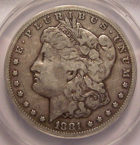 1881-CC  MORGAN  SILVER  DOLLAR  >> ANACS F12 <<