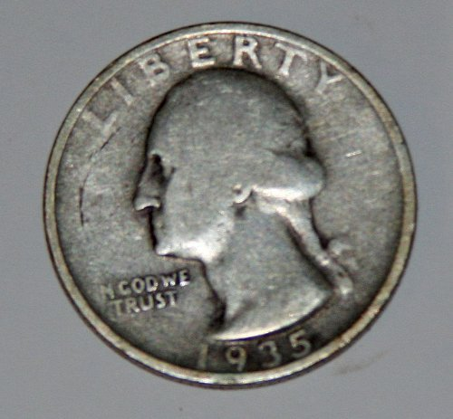 COLLECTIBLE U.S. 1935-D 25C WASHINGTON QUARTER.....F15.....