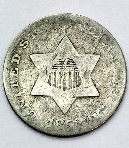 1852 Three Cent Piece