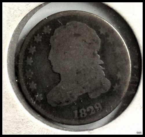 1829 P Capped Bust Dimes : Small 10C Small Type