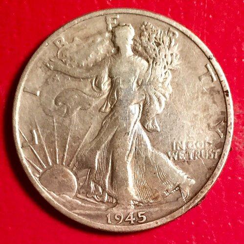1945S Walking Liberty Half