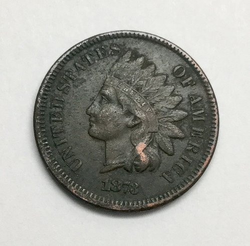 1873 Indian Head Cent, Closed 3