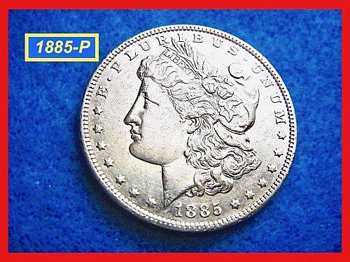"1885-P Morgan Silver Dollar ☆ ☆""XF-40""   ☆ ☆ (#5360)•"