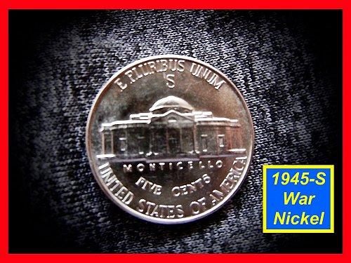 1945-S Jefferson Silver War  Nickel   (#6299)