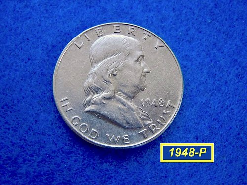 1948-P Franklin Half Dollar  ☆☆☆☆  Circulated  ☆☆☆☆  (#1712)