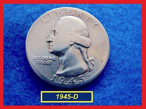 1945-D  Washington Quarter ••• Circulated ••• (#2565)