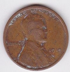 1919 p..Lincoln one cent ..circulated coin