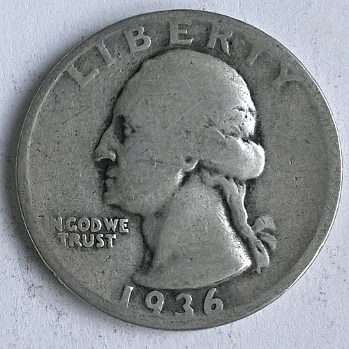 1936 P Washington Quarter Dollar - 6 Photos!