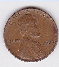 1938 P..LINCOLN ONE CENT  ..FINE COIN