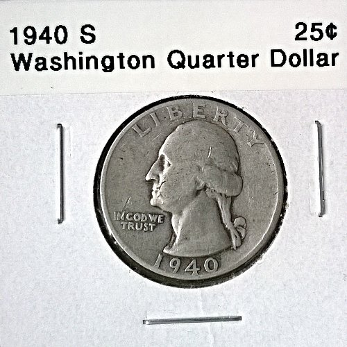1940 S Washington Quarter Dollar - 6 Photos!