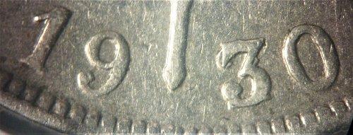 Belgium 1930/20 2 Francs, 2 Frank (overdate dutch text) #002