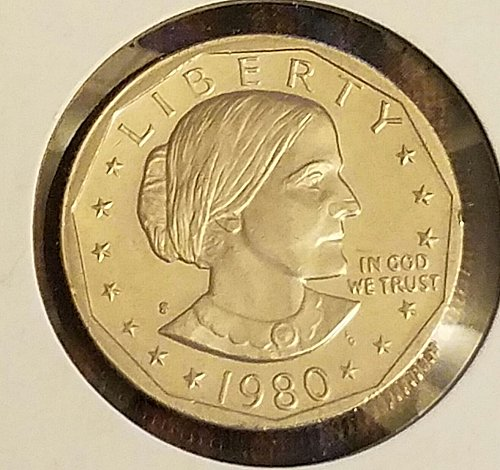 1980-S Proof Susan B Anthony Clear S