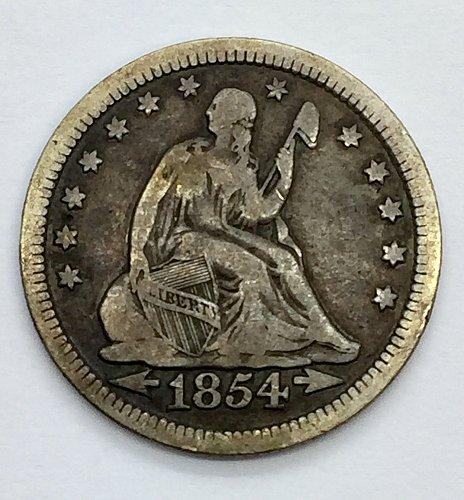 1854 Seated Liberty Quarter