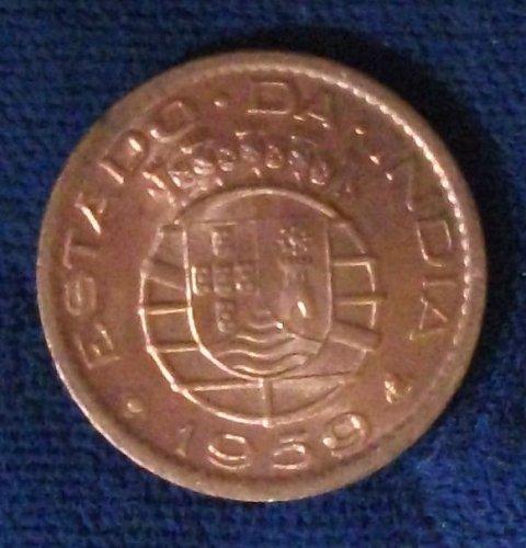 1959 Portuguese India 10 Centavos UNC