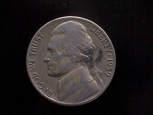 1959-P JEFFERSON 5 CENT