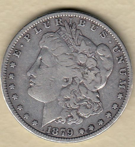 Morgan Dollar  : 1879   /  GJ-2