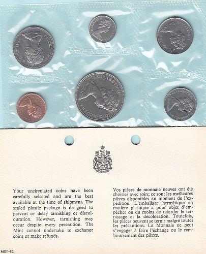 Canadian  1969 Uncirculated year set  /  WM-9