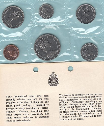 Canadian  1970 Uncirculated year set  /  WM-10