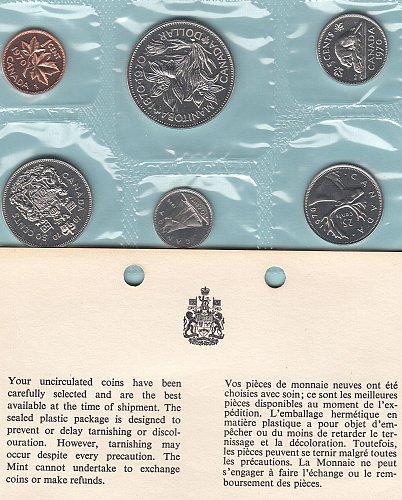 Canadian  1970 Uncirculated year set  /  WM-10
