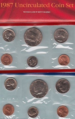 U.S. Uncirculated Coin Set  1987 D & P  /   WM-11