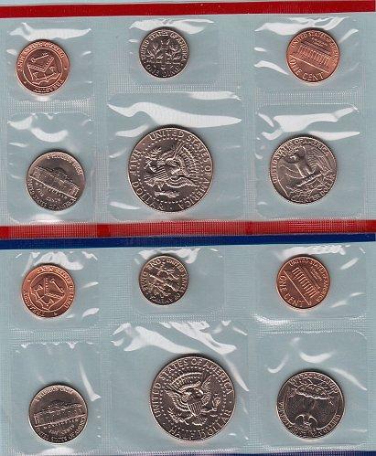 U.S. Uncirculated Coin Set  1987 D & P  /   WM-11