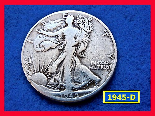 "1945-D  Liberty Walking Half   ★  ""Circulated""   (#1691)√"