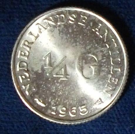 1965 Netherlands Antilles 1/4 Gulden UNC