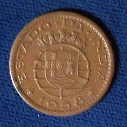 1958 Portuguese India 10 Centavos XF