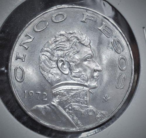 1972 Mexico Cinco Pesos KM# 472