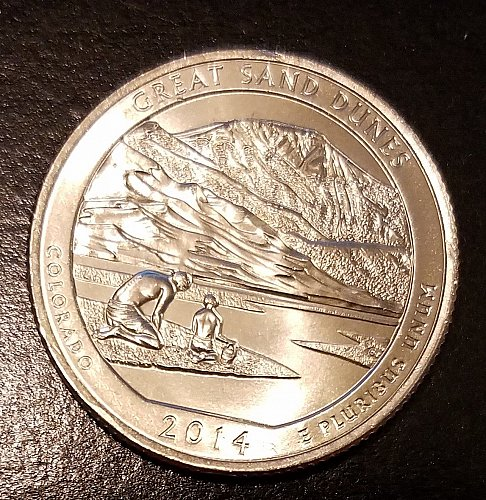 2014-P Great Sand Dunes National Park America the Beautiful Quarter (6940)