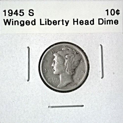 1945 S Winged Liberty Head Dime - 6 Photos!