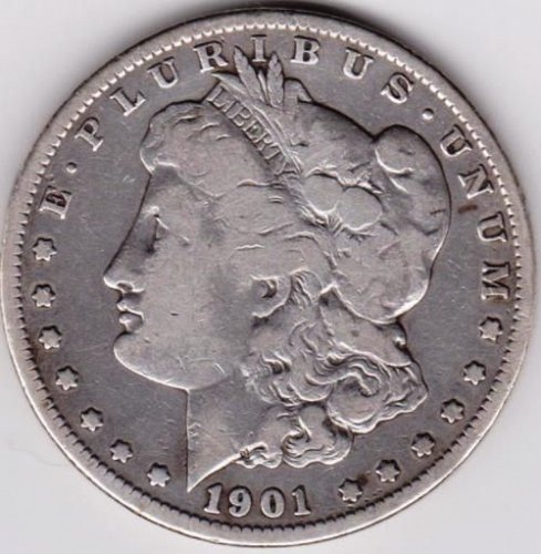 1901-O Morgan Silver Dollar.