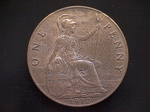 1912 GREAT BRITAIN PENNY  KING GEORGE V