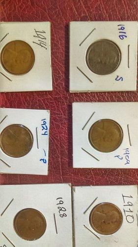 1916 s, 1909 p, 1910, 1914,1924, 1928 s,