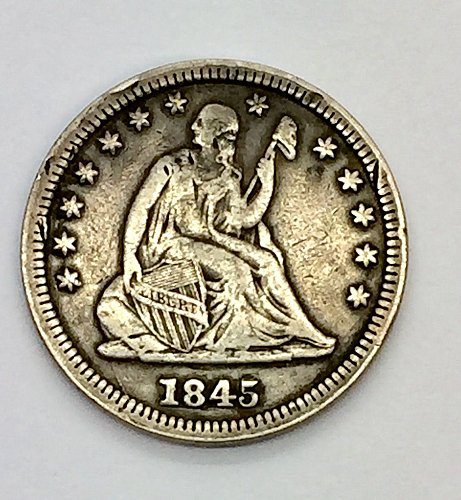 1845 Seated Liberty Quarter