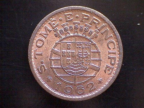 "1962 SAINT THOMAS & PRINCE ISLANDS TWENTY CENTAVOS ""PORTUGUESA REPUBLICA"""