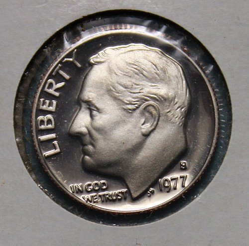 1977 S Roosevelt Dime