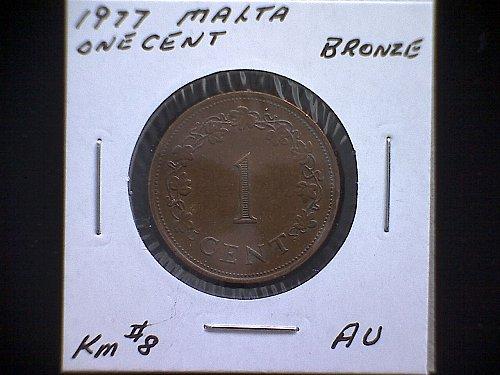 1977 MALTA ONE CENT