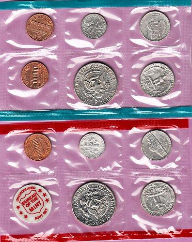 U.S. Uncirculated Coin Set  1971  Mint Set- Double Set  /   WM-18