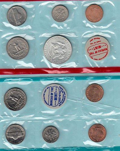 U.S. Uncirculated Coin Set  1968 U.C.- Double Set  /   WM-21