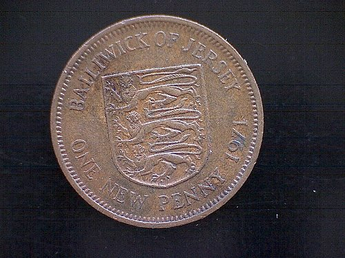 1971 BAILIWICK OF JERSEY ONE NEW PENNY