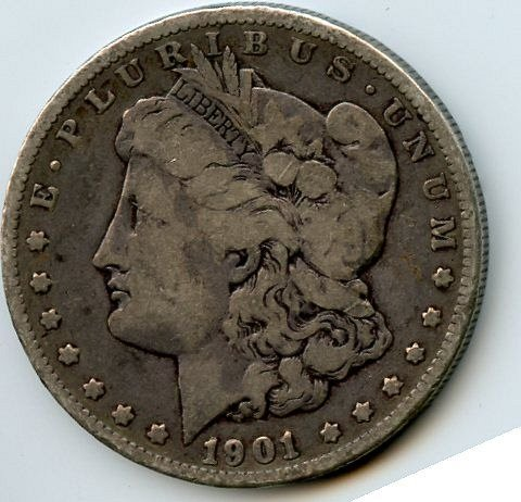 1901-0 Morgan Dollar