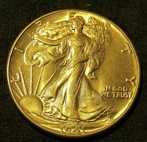 1941-P Silver Walking Liberty Half Dollar GEM BU !!