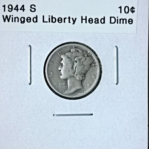 1944 S Winged Liberty Head Dime - 6 Photos!