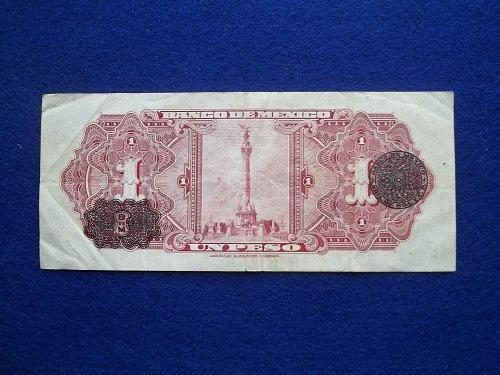 MEXICO 1948 1 PESOS WORLD BANK NOTE F-VF CONDITION!