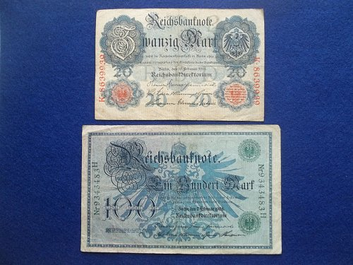 GERMANY 2 PIECE OLD WORLD PAPER MONEY LOT