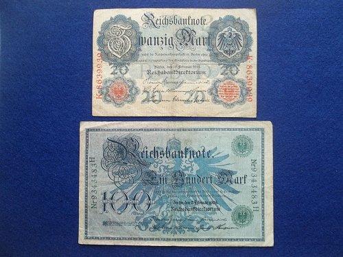 GERMANY 2 PIECE OLD WORLD PAPER MONEY LOT
