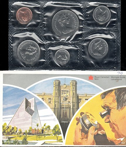 Canadian: 1979 Uncirculated Coin Year Set  /  WM-30